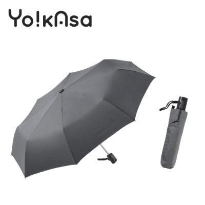 Yo!kAsa 簡約素色自動開收折傘(五色任選)