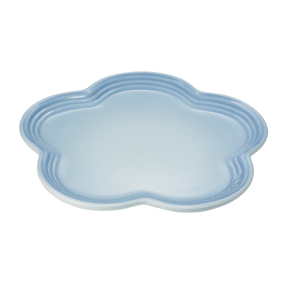 LE CREUSET瓷器花型盤23cm(海岸藍)