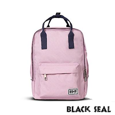 福利品 BLACK SEAL 聯名8848系列- 多隔層休閒小方型後背包-淺粉紅