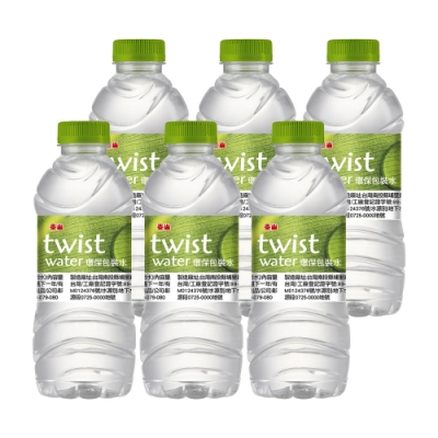泰山TWIST WATER 環保包裝水(330mlx6入)(包裝飲用水)