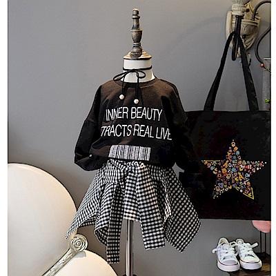 【韓品童裝】女童 中小童時尚韓版假兩件不規則童裙