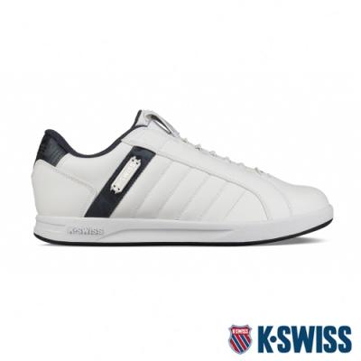 [零碼出清]K-SWISS Lundahl Slip-On S 鞋套式運動鞋-男-白/藍