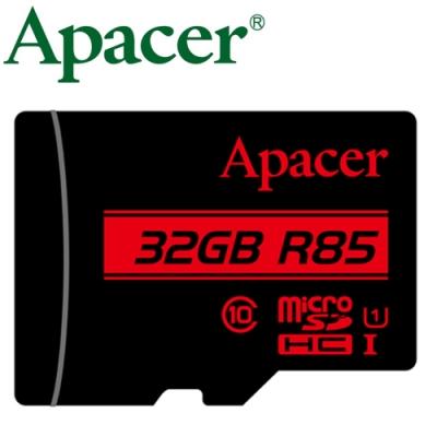 Apacer 宇瞻 32GB 85MB/ s microSDHC U1 記憶卡