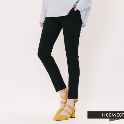 H:CONNECT 韓國品牌 女裝 - 基本款微彈合身長褲-黑