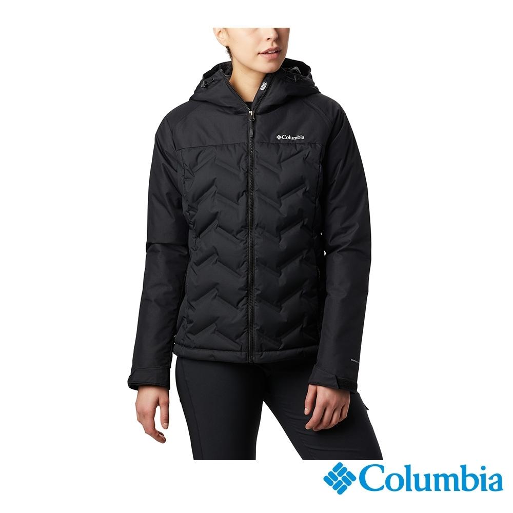 Columbia 哥倫比亞 女款- Omni-TECH 防水鋁點保暖羽絨外套-黑色 UWR02280BK