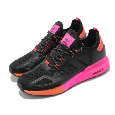 adidas 休閒鞋 ZX 2K Boost 運動 男鞋 愛迪達 舒適 避震 輕量 球鞋 穿搭 黑 粉 FV9997