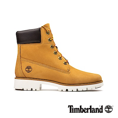 Timberland 女款小麥色磨砂革厚領6吋靴|A1VXN