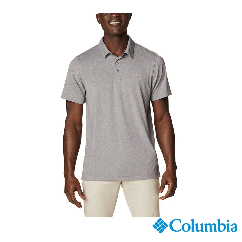 Columbia 哥倫比亞 男女款- UPF50快排短袖Polo衫-6色 活動款 (男款-灰色)