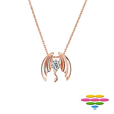 彩糖鑽工坊 30分 G/VS 18K 玫瑰金 小惡魔鑽石項鍊