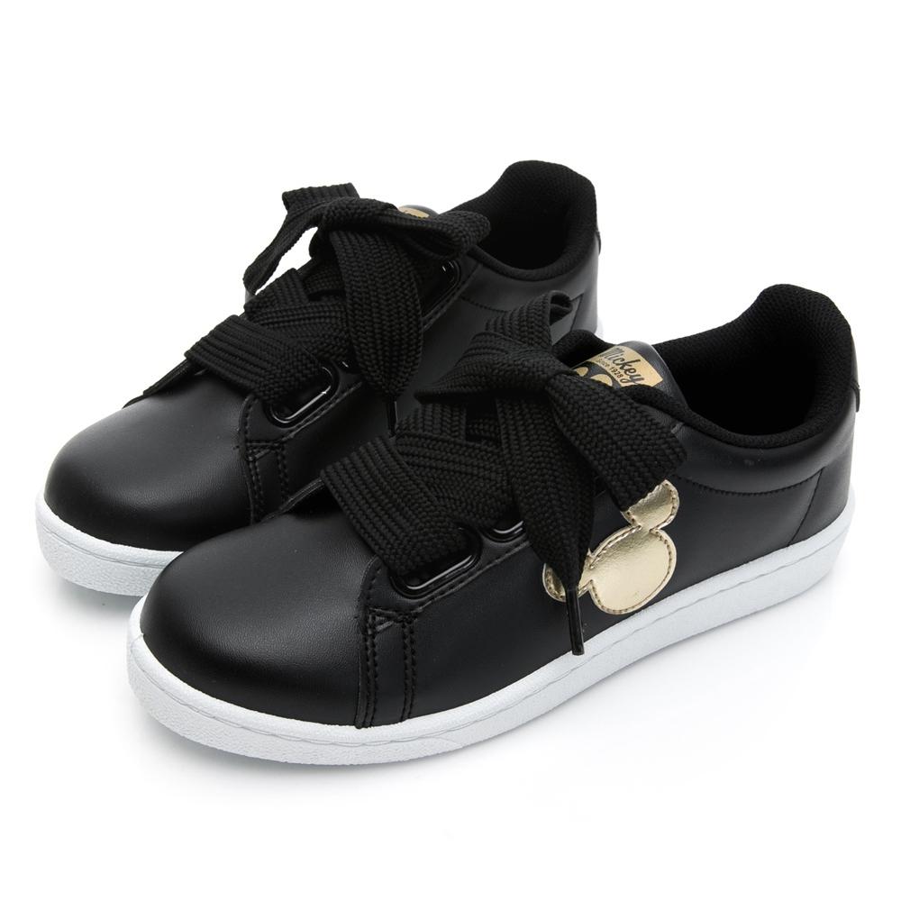 DISNEY米奇寬版綁帶休閒鞋-黑金-DW5635C5
