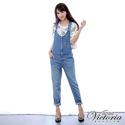 Victoria TENCEL吊帶男友褲-女-淺藍
