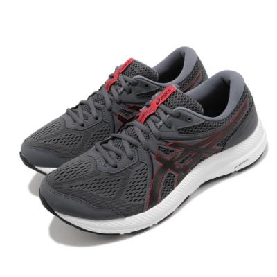 Asics 慢跑鞋 Gel-Contend 7 4E 男鞋 亞瑟士 超寬楦頭 入門 緩衝 耐磨 灰 紅 1011B039020
