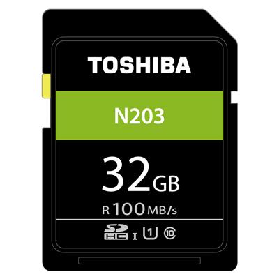 TOSHIBA N203 32GB UHS-I(U1) SDHC 100MB高速記憶卡