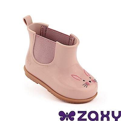 Zaxy 巴西 寶寶 動物亮彩 短雨靴 粉/咖啡