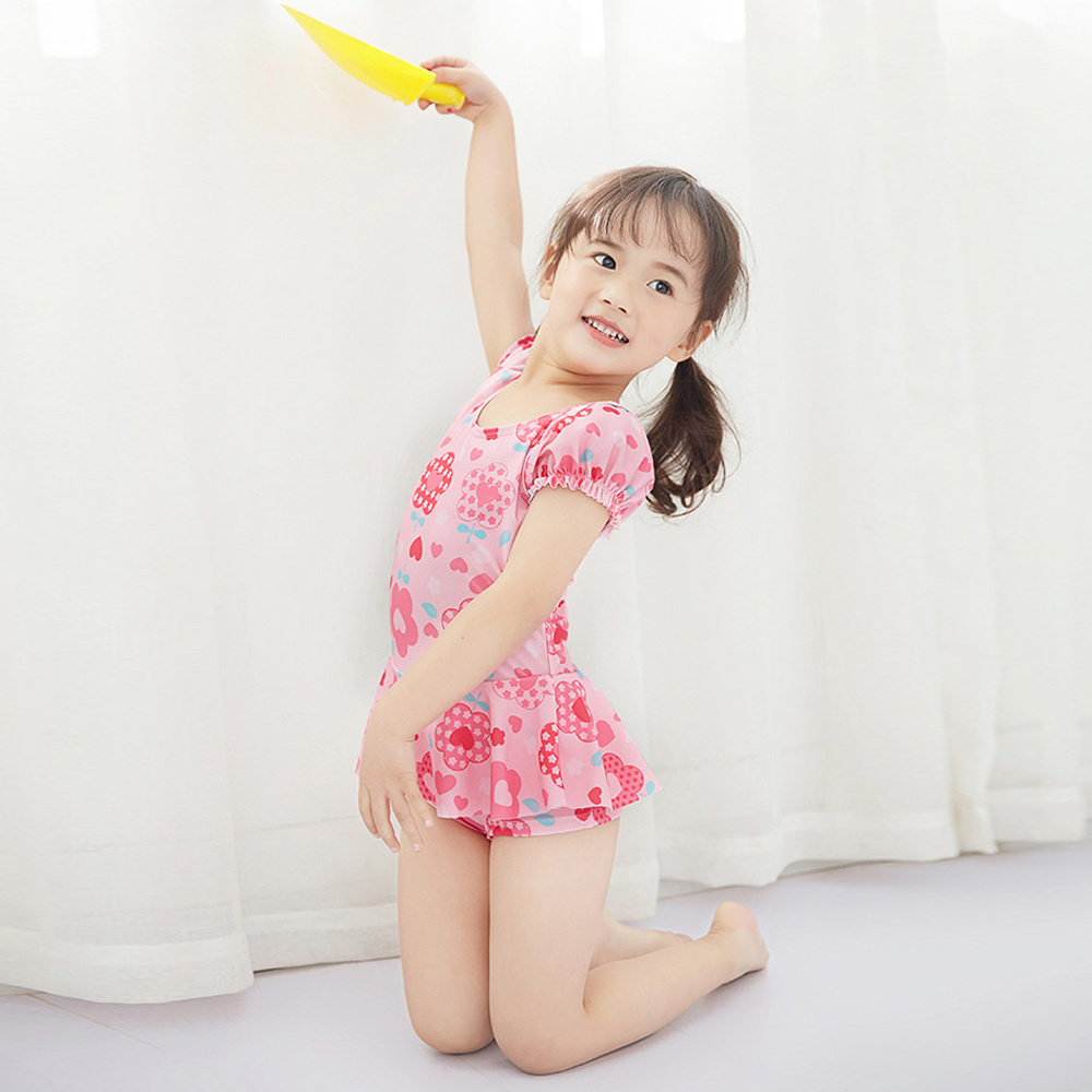 baby童衣 女童 清新連身裙泳裝 附泳帽 y7053 product image 1