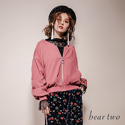 beartwo時尚輕薄拉鍊夾克(二色)