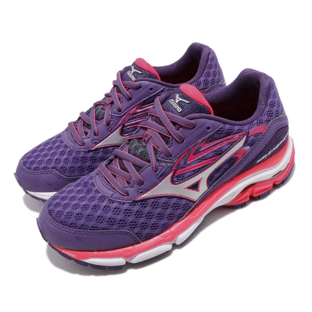 Mizuno 慢跑鞋 Wave Inspire 12 寬楦 女鞋