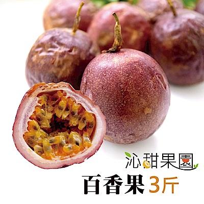 沁甜果園SSN 高雄型農傳統百香果(3台斤/盒)