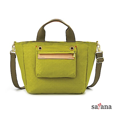 satana - Soldier 多隔層手提包/斜背包- 檸檬香茅