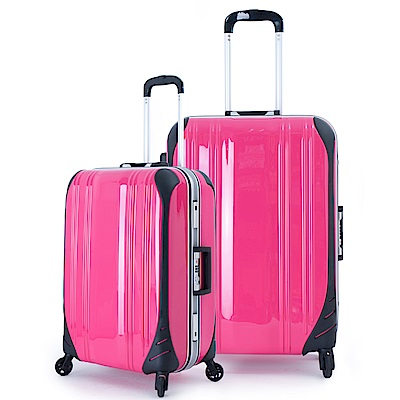 DF travel - 簡奢風華極光鏡面鋁框20+28吋2件組行李箱-共4色