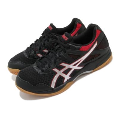 Asics 排球鞋 Gel-Task 2 運動 男鞋 亞瑟士 膠底 基本款 球鞋 亞瑟膠 黑 銀 1071A037004