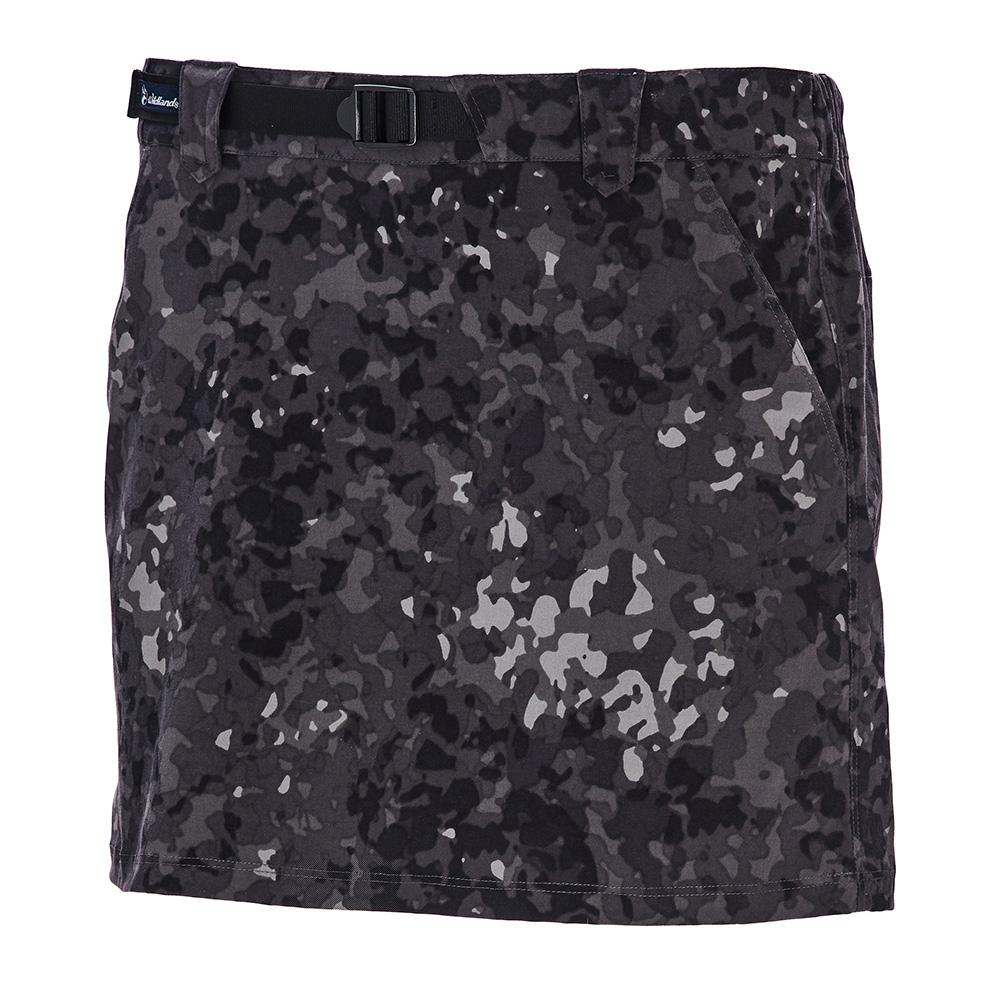 荒野【wildland】女彈性抗UV功能印花褲裙迷彩灰
