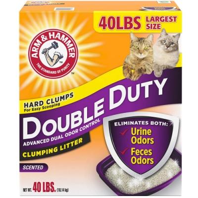 (時時樂限定)鐵鎚牌鐵槌《凝結貓砂》雙效加強除臭配方40磅18.14公斤