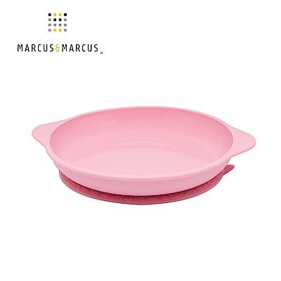【MARCUS&MARCUS】動物樂園幼兒學習吸力餐盤-粉紅豬(粉)