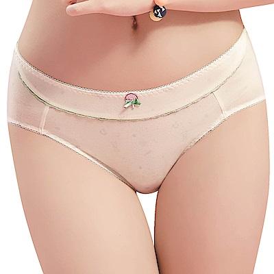 思薇爾 棒棒糖輕甜風系列M-XXL中腰三角內褲(奶油色)