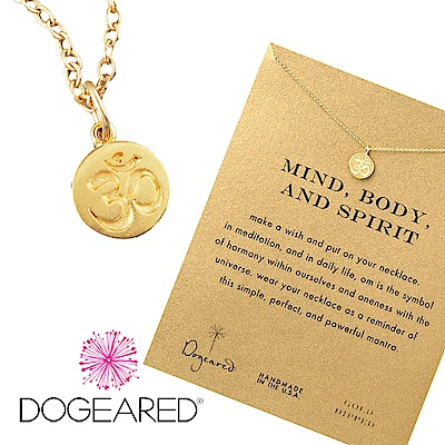 Dogeared 許願項鍊 金色OM古印度錢幣 Om Necklace 附原廠盒