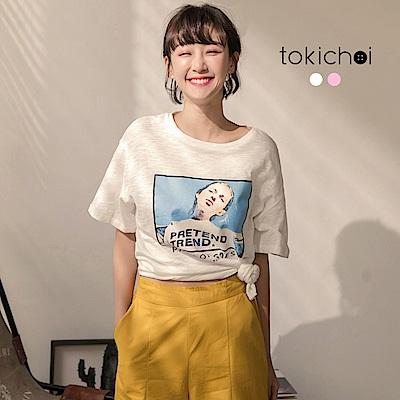 東京著衣 個性風潮印花短T(共二色)