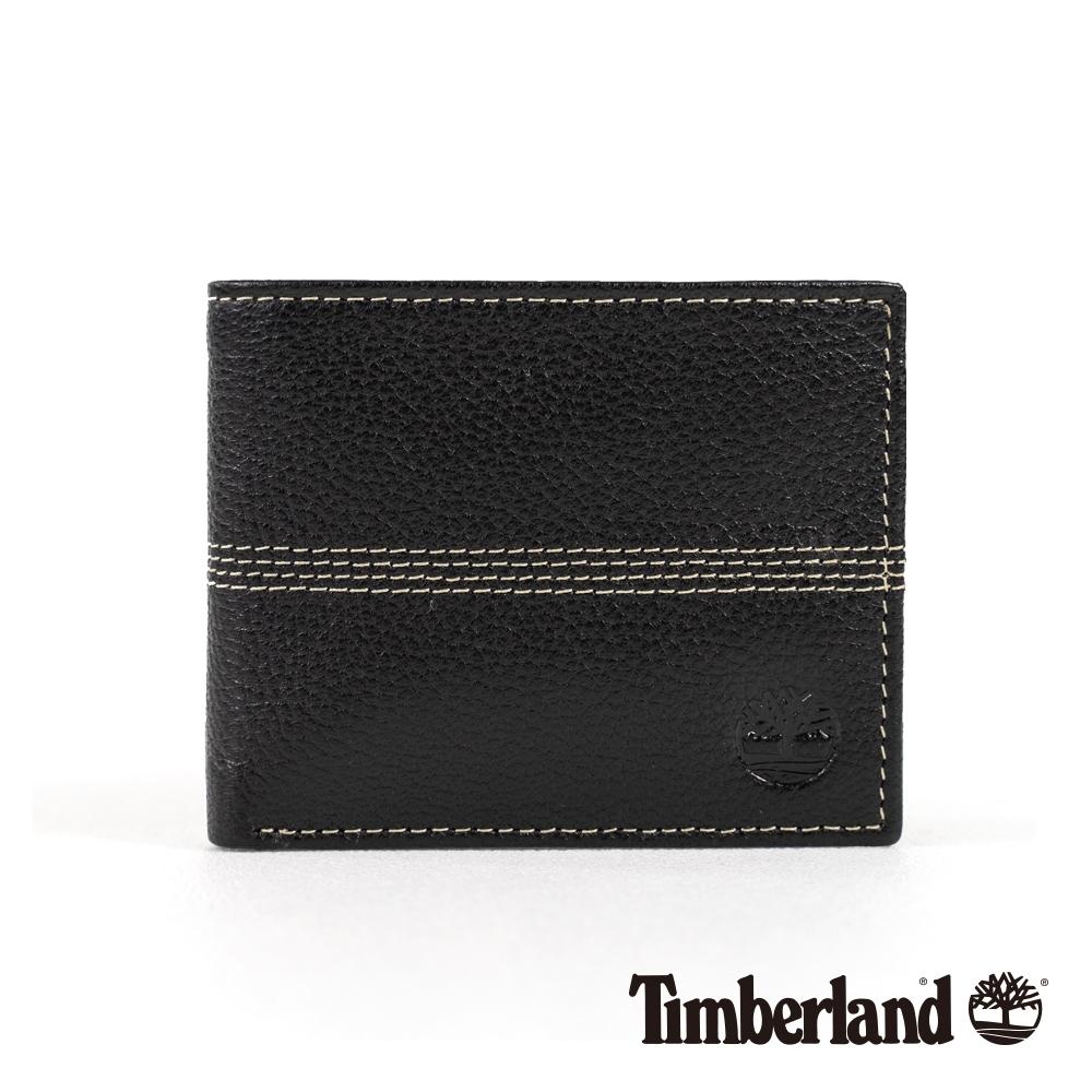 Timberland 中性黑色翻折皮夾|A1COJ