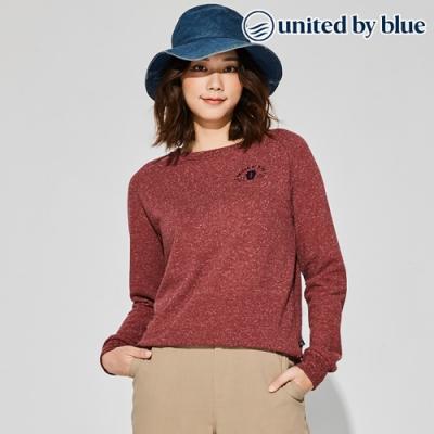 United by Blue 女起球圓領長袖上衣 201-090 紫紅 (XS-L)