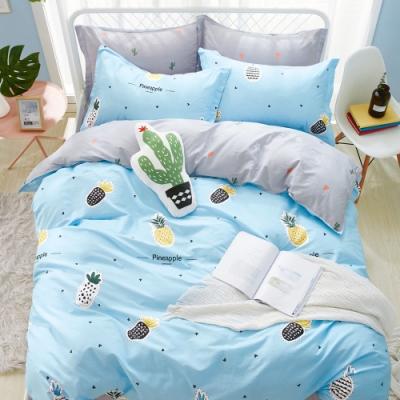 Ania Casa 波羅一族 加大四件式 100%精梳棉 台灣製 床包被套純棉四件組