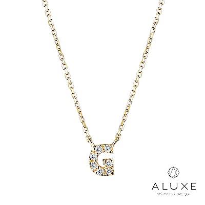 A-LUXE 亞立詩 Alphabet系列10K鑽石項鍊-G