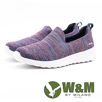W&M 流砂紋路 極簡休閒女鞋-紫(另有黑)