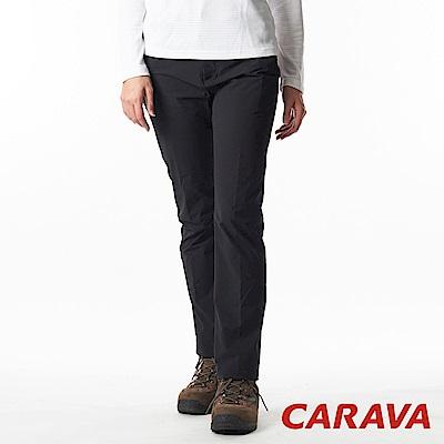 CARAVA《女款彈性排汗休閒褲》(黑)