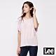 Lee 短T Logo袖口綁帶寬版T恤 女款 粉紅色 product thumbnail 1