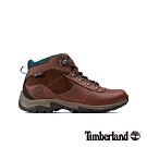 Timberland 女款棕色全粒面皮革防水厚底中筒登山鞋 A1WK8