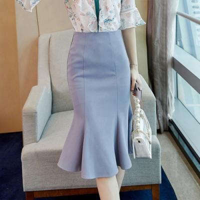 設計所在Lady-中長包臀短裙A字魚尾裙(S-XL可選)