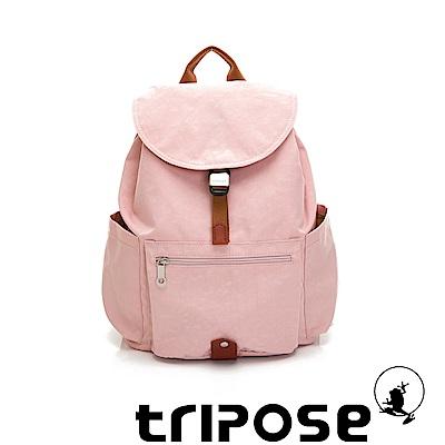 tripose MEMENTO系列微皺尼龍經典輕量後背包(大)玫瑰粉