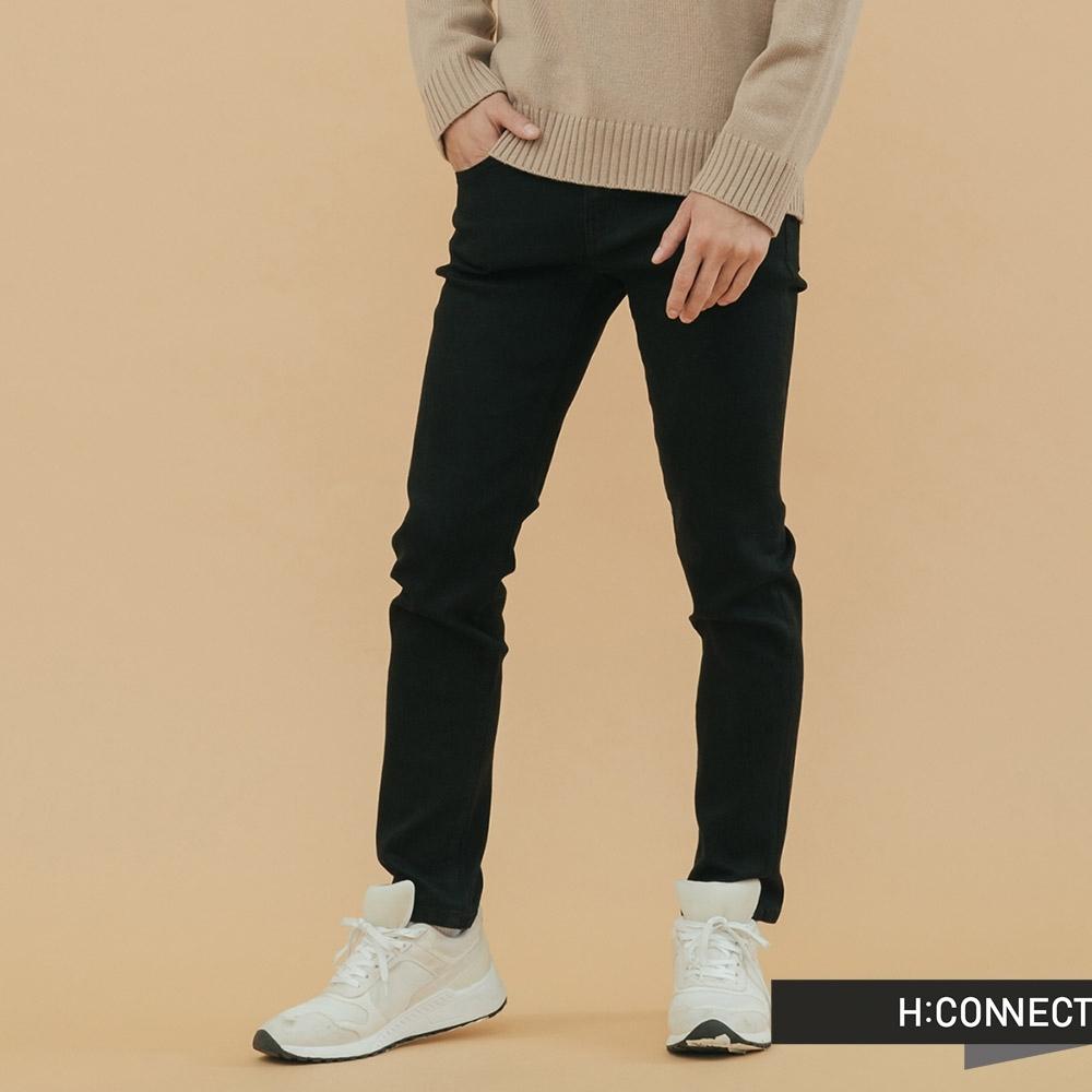 H:CONNECT 韓國品牌 男裝 - 百搭微彈牛仔褲  - 黑