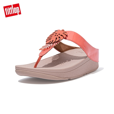 FitFlop FINO JUNGLE LEAF TOE-POST SANDALS熱帶葉飾夾腳涼鞋-女(珊瑚粉)