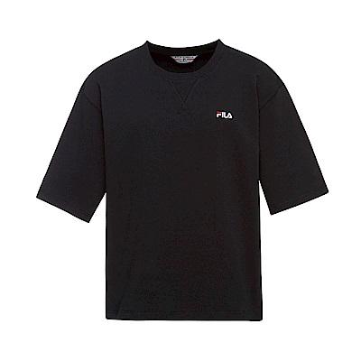 FILA #漢城企劃 短袖純棉圓領T恤-黑 1TET-1410-BK