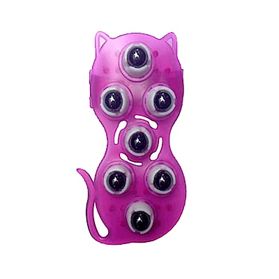 美娜甜心 美體磁石按摩器/滾珠按摩器不生鏽/翹臀美腿纖體法寶_可愛貓咪款(紫色)