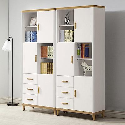 D&T德泰傢俱 愛杜莎5.2尺書櫃(雙件組)-158x40x192cm