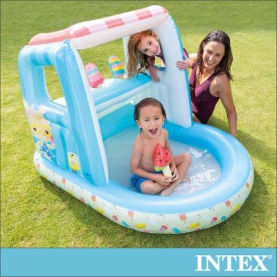 INTEX 冰淇淋店遊戲屋/戲水二用_適用2-6歲(48672)