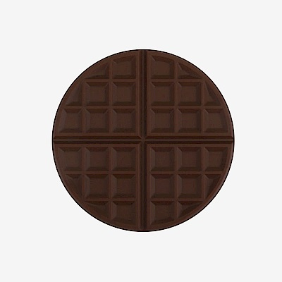 Dailylike 馬卡龍鬆餅矽膠隔熱墊-02巧克力