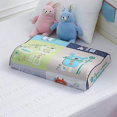 GOLDEN TIME-兒童舒利枕-繽紛蒙太奇(藍)