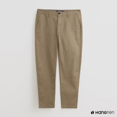 Hang Ten - 男裝 - 百搭純色修身休閒長褲 - 卡其